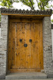 Asian China antique buildings, large wooden doors, Royalty Free Stock Image