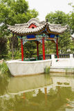 Asian China, antique buildings, the pavilion, ston Royalty Free Stock Photos