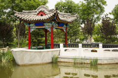 Asian China, antique buildings, the pavilion, ston Royalty Free Stock Image