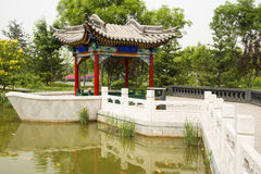 Asian China, antique buildings, the pavilion, ston Royalty Free Stock Images