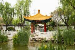 Asian China, antique buildings, pavilions, balustr Stock Image