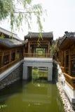 Asian China, antique buildings, pavilions, corridor Stock Images