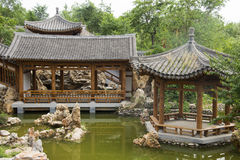 Asian China, antique buildings, pavilions, terraces and open halls Royalty Free Stock Image