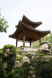 Asian China, antique buildings, rockery, Pavilion Royalty Free Stock Image