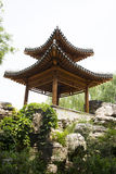 Asian China, antique buildings, rockery, Pavilion Royalty Free Stock Images