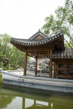 Asian China, Beijing, antique buildings, the marble boat, a pavilion, Royalty Free Stock Photos