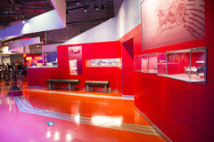 Asian China, Beijing, Automobile Museum,Indoor exhibition hall Royalty Free Stock Image