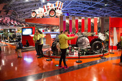 Asian China, Beijing, Automobile Museum,Indoor exhibition hall Royalty Free Stock Photos