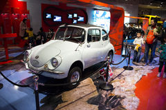 Asian China, Beijing, Automobile Museum,Indoor exhibition hall Royalty Free Stock Images