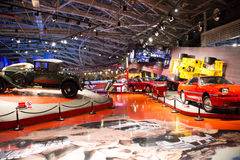 Asian China, Beijing, Automobile Museum,Indoor exhibition hall Royalty Free Stock Photography