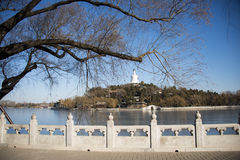 Asian China, Beijing Beihai Park, Qiong Huadao Stock Photo