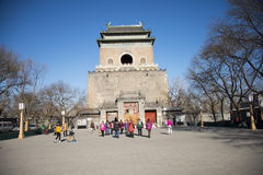 Asian China, Beijing, bell tower, historical buildings Royalty Free Stock Image