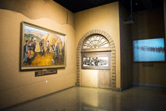 Asian China, Beijing, China National Film Museum,Indoor exhibition hall, Royalty Free Stock Photos