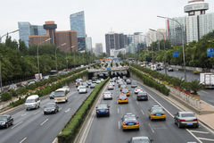 Asian China, Beijing, city traffic Royalty Free Stock Photo