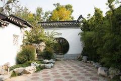 Asian China, Beijing, Garden Expo, antique buildings, courtyards, jade bamboo Royalty Free Stock Photos
