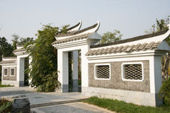 Asian China, Beijing, Garden Expo, antique buildings, the gatehouse, exterior wall Stock Photo