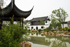 Asian China Beijing Garden Expo Garden, antique bu Royalty Free Stock Image