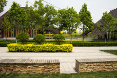 Asian China Beijing Garden Expo Garden, modern arc Stock Photo