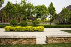 Asian China Beijing Garden Expo Garden, modern arc Stock Photo