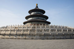 Asian China, Beijing, historic buildings, Tiantan Park, the hall of prayer for good harvests. Asian China, Beijing, historic buildings, Tiantan Park, temple is Royalty Free Stock Images