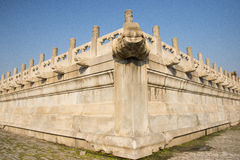Asian China, Beijing, the Imperial Palace, stone carving, bibcock, railing Royalty Free Stock Images