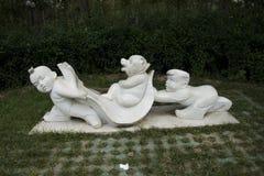 Asian China, Beijing, International Sculpture Park, injured bear Stock Photos