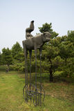 Asian China, Beijing International Sculpture Park, the pure land, Stock Photography