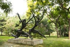Asian China, Beijing, International Sculpture Park, run Stock Photos