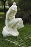 Asian China, Beijing, International Sculpture Park, woman, spring Royalty Free Stock Images