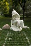Asian China, Beijing, International Sculpture Park, woman, spring Royalty Free Stock Photo