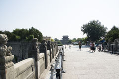 Asian China, Beijing, Lugou Bridge, places of historic interest and scenic beauty Royalty Free Stock Photo