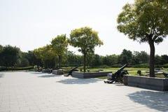 Asian China, Beijing, Lugou Bridge square, cone Stock Photos