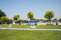 Asian China, Beijing, Lugou Bridge square, cone Stock Image