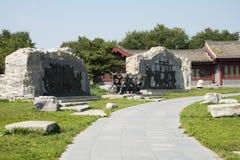 Asian China, Beijing, Lugou Bridge square, sculpture Royalty Free Stock Photo