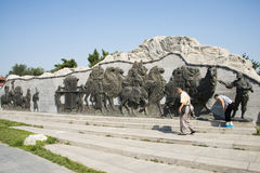Asian China, Beijing, Lugou Bridge square, sculpture Royalty Free Stock Image