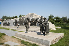 Asian China, Beijing, Lugou Bridge square, sculpture Royalty Free Stock Images