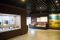 Asian China, Beijing, Museum of ancient animal,Indoor exhibition hall, Stock Image