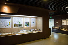 Asian China, Beijing, Museum of ancient animal,Indoor exhibition hall, Stock Photo