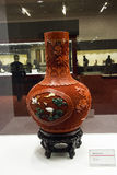 Asian China, Beijing, National Museum, indoor exhibition,Arts and crafts, lacquer carving Stock Photos