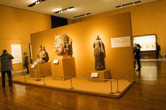 Asian China, Beijing, National Museum, indoor exhibition hall, The Buddha Stock Photography