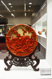 Asian China, Beijing, National Museum, indoor exhibition,Arts and crafts, lacquer carving Royalty Free Stock Photography
