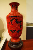 Asian China, Beijing, National Museum, indoor exhibition,Arts and crafts, lacquer carving Stock Images