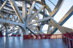 Asian China, Beijing, National Stadium, interior steel structure Stock Images