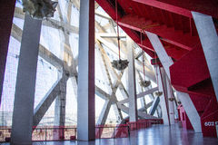 Asian China, Beijing, National Stadium, interior steel structure Royalty Free Stock Photography