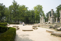 Asian China, Beijing, Old Summer Palace, western building, building wreckage site Stock Photos