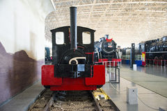Asian China, Beijing, Railway Museum, exhibition hall, train. Chinese Railway Museum is a national professional railway museum only, locomotive and car showroom Royalty Free Stock Photography