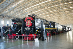 Asian China, Beijing, Railway Museum, exhibition hall, train Royalty Free Stock Image