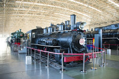 Asian China, Beijing, Railway Museum, exhibition hall, train Stock Image