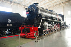 Asian China, Beijing, Railway Museum, exhibition hall, train. Chinese Railway Museum is a national professional railway museum only, locomotive and car showroom Stock Photography