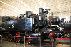 Asian China, Beijing, Railway Museum, exhibition hall, train. Chinese Railway Museum is a national professional railway museum only, locomotive and car showroom Royalty Free Stock Images